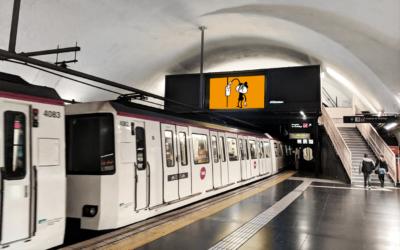 Pantalla Metro Barcelona